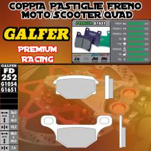FD252G1651 PASTIGLIE FRENO GALFER PREMIUM POSTERIORI HM DERAPAGE 4T 11-
