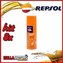KIT 8X 400ML OLIO REPSOL MOTO SILICONE SPRAY 400ML - 8x REPSOL43