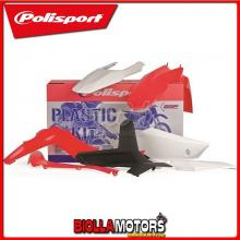 P90488 KIT PLASTICHE CARENE GAS GAS EC 250 2013-2013 BIANCO/ROSSO POLISPORT