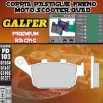 FD103G1651 PASTIGLIE FRENO GALFER PREMIUM POSTERIORI BUELL XB 12 SS LIGHTNING LONG 06-