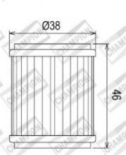 100609385 COF041 FILTRO OLIO GAS GAS EC250 F 4T  10-11