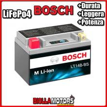 LT14B-BS BATTERIA LITIO BOSCH YT14B-BS LifePo4 0986122620 YT14BBS MOTO SCOOTER QUAD CROSS