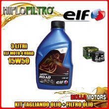 KIT TAGLIANDO 3LT OLIO ELF MOTO 4 ROAD 15W50 GILERA 800 GP / GP Centenario 800CC 2008-2014 + FILTRO OLIO HF565