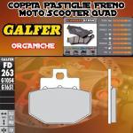 FD263G1054 PASTIGLIE FRENO GALFER ORGANICHE POSTERIORI BENELLI ADIVA 00-
