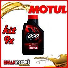 KIT 9X LITRO OLIO MOTUL 800 2T FACTORY LINE ROAD RACING 100% SINTETICO 2TEMPI - 9x 104041